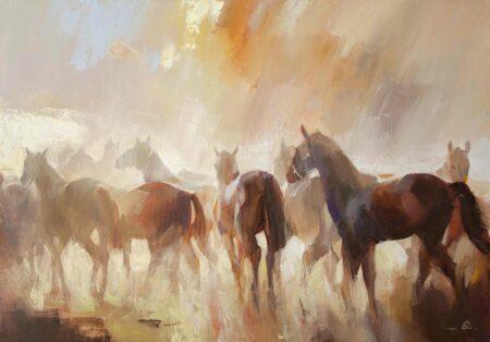 Коні,ранок-2
